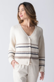 Margaret O'Leary Jamie Striped Cardigan - Front cropped