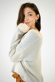 SAGE THE LABEL Jamie Vneck Sweater - Front full body
