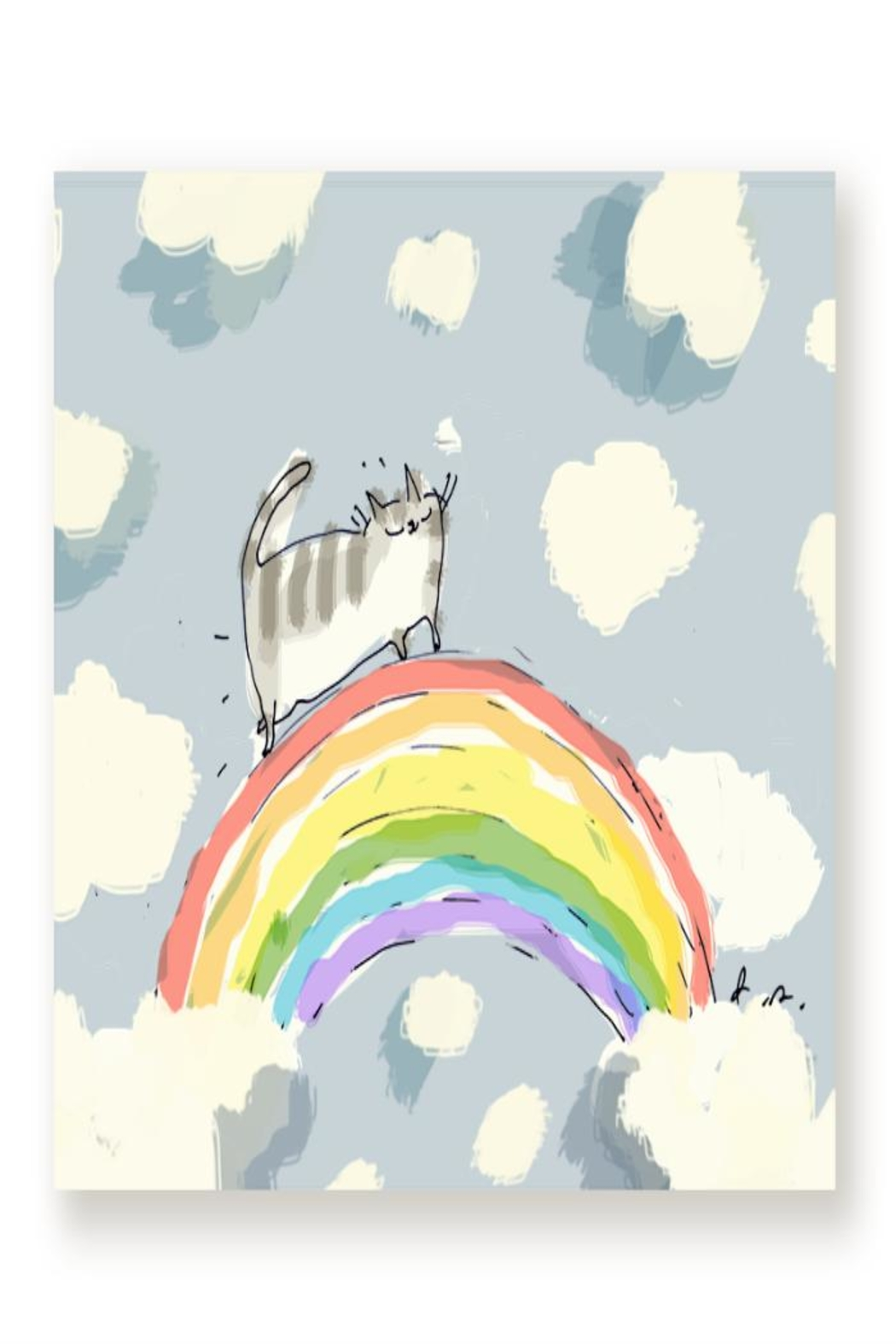 Jamie Shelman Art Cat Rainbow Card - Main Image