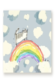 Jamie Shelman Art Cat Rainbow Card - Front cropped