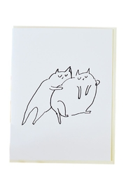 Jamie Shelman Art Hugs Cat Card - Product Mini Image