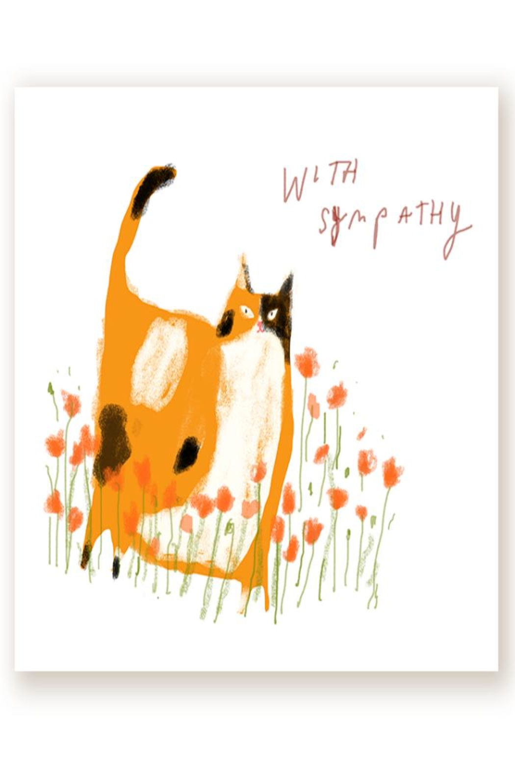 Jamie Shelman Art Sympathy Cat Card - Main Image