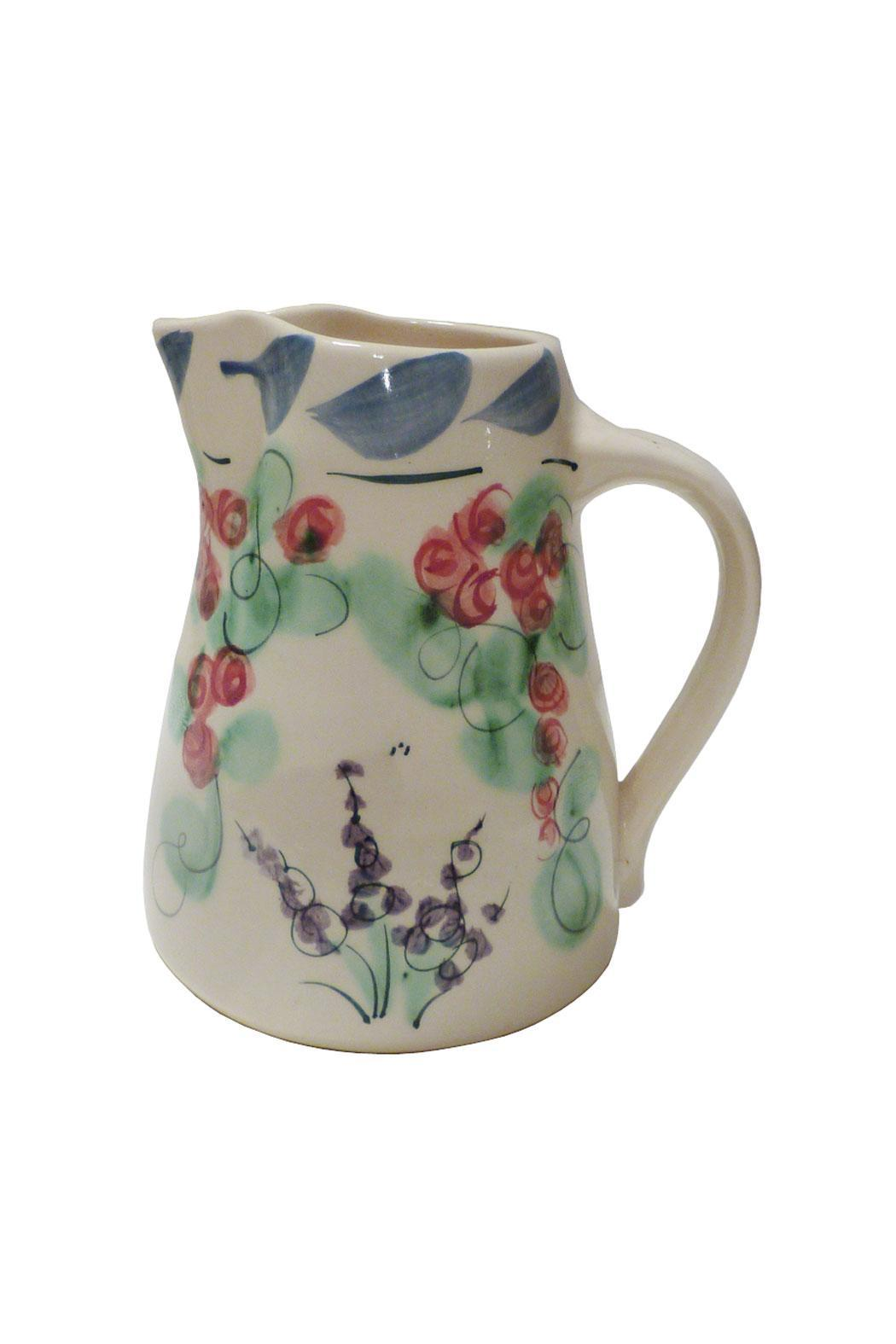 Jan Hoyman Studio Handmade Pottery Pitcher - Front Cropped Image