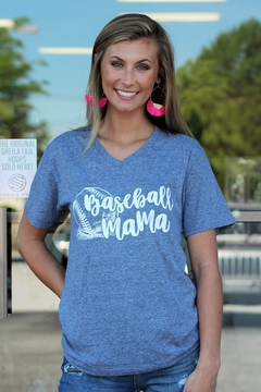 Jane Marie Baseball Mama V-Neck - Alternate List Image