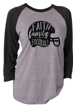 Jane Marie Faith Family Football 3/4 Sleeve T-Shirt - Alternate List Image