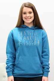 Jane Marie Grateful Thankful Blessed Hoodie - Product Mini Image