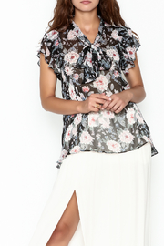 Jane Ruffle Sleeve Top - Product Mini Image