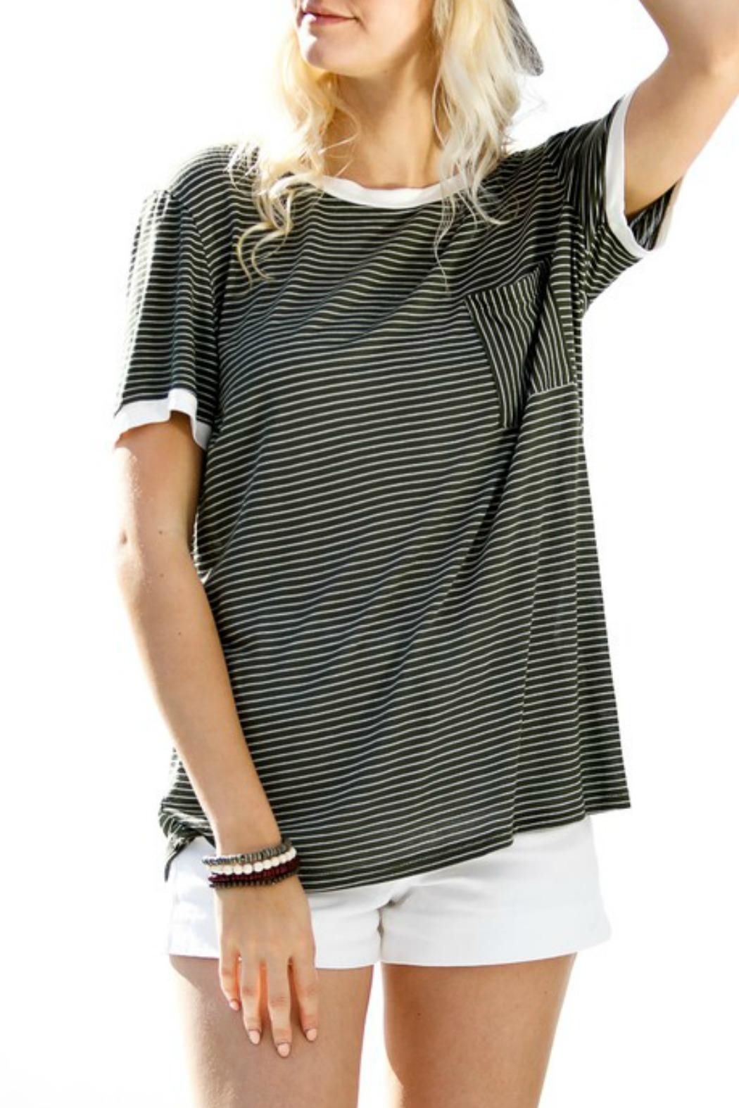 My Story Jane Striped Tee - Side Cropped Image