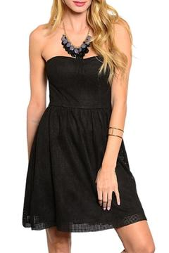 Shoptiques Product: Black Strapless Dress