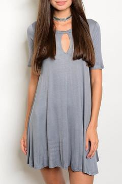 Shoptiques Product: Grey Keyhole Dress