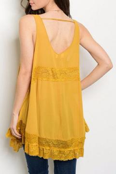 Shoptiques Product: Mustard Lace Tunic