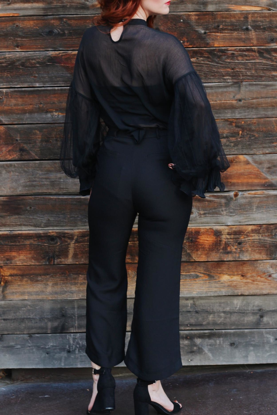 jane plus one Blouse Black Top - Front Full Image