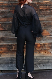 jane plus one Blouse Black Top - Front full body
