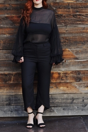 jane plus one Blouse Black Top - Front cropped