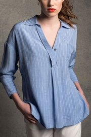 jane plus one Blue Stripe Blouse - Product Mini Image