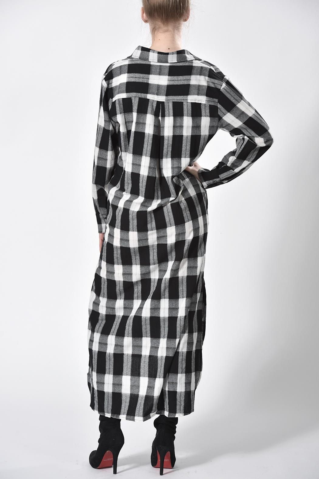 jane plus one Checkered Dress - Side Cropped Image
