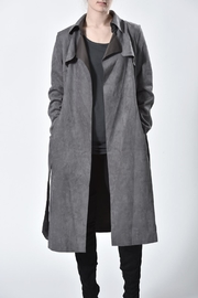 jane plus one Faux Suede Coat - Front full body