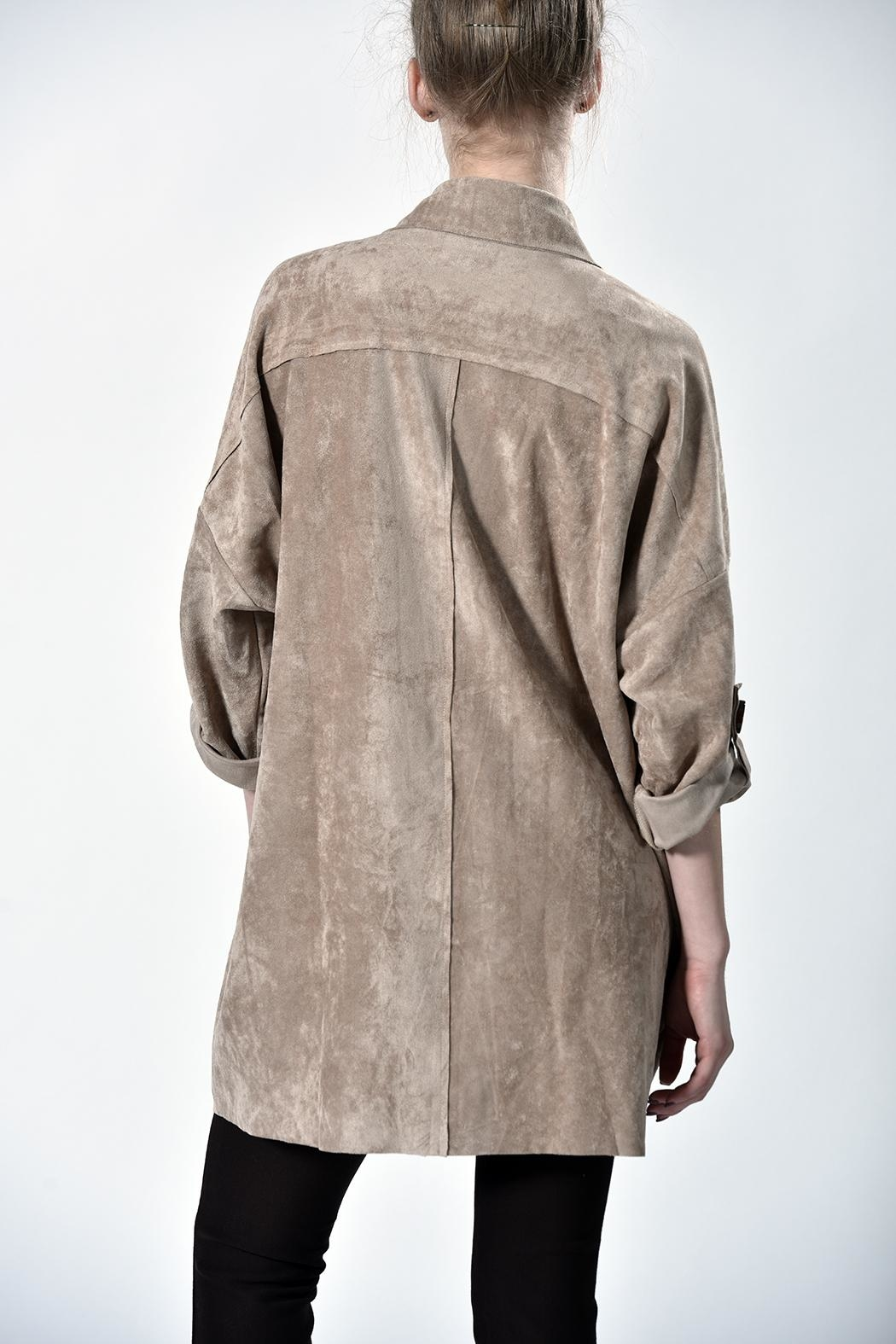 jane plus one Faux Suede Jacket - Front Full Image