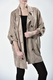 jane plus one Faux Suede Jacket - Front cropped