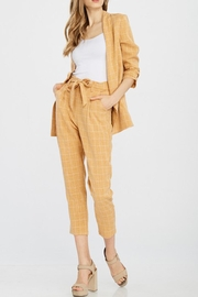 jane plus one Yellow Checkered Pants - Product Mini Image