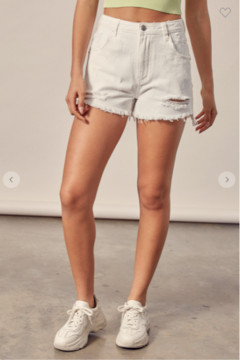 Mustard Seed  Janet Distressed Mom Shorts - Product List Image