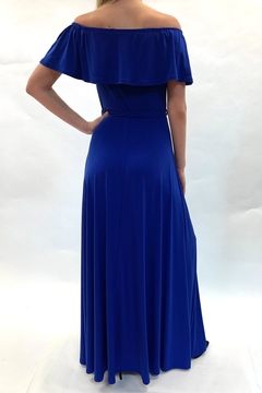 Janette Off-Shoulder Royal Dress - Alternate List Image
