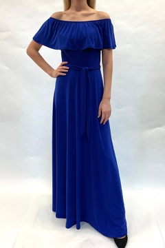 Janette Off-Shoulder Royal Dress - Product List Image