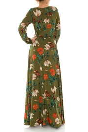 Janette Fall Floral Maxi Dress - Front full body