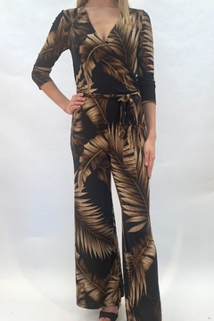 Janette Palm Print Jumpsuit - Product List Image