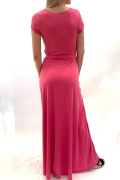 Janette Pink Tie Maxi - Alternate List Image