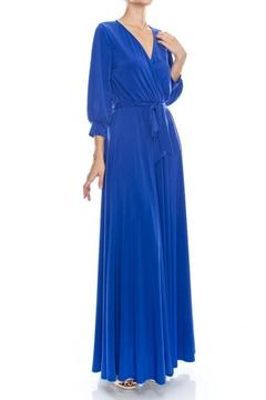 Shoptiques Product: Solid Maxi Wrap Dress