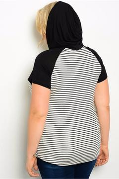 Janette Plus Plus-Sized Stripe Hoody - Alternate List Image