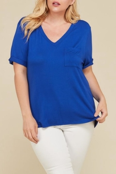 Janette Plus V-Neck Pocket Top - Product List Image