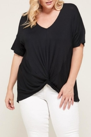 Janette Plus V-Neck Twist Top - Product Mini Image