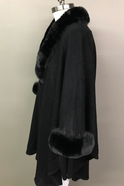 Janice Luxerious Faux Fur Cape - Front full body