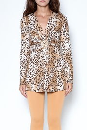 Janine Cheetah Sexy Shimmer Top - Product Mini Image