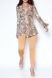 Janine Cheetah Sexy Shimmer Top - Front full body