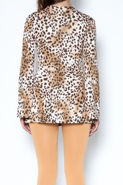 Janine Cheetah Sexy Shimmer Top - Back cropped