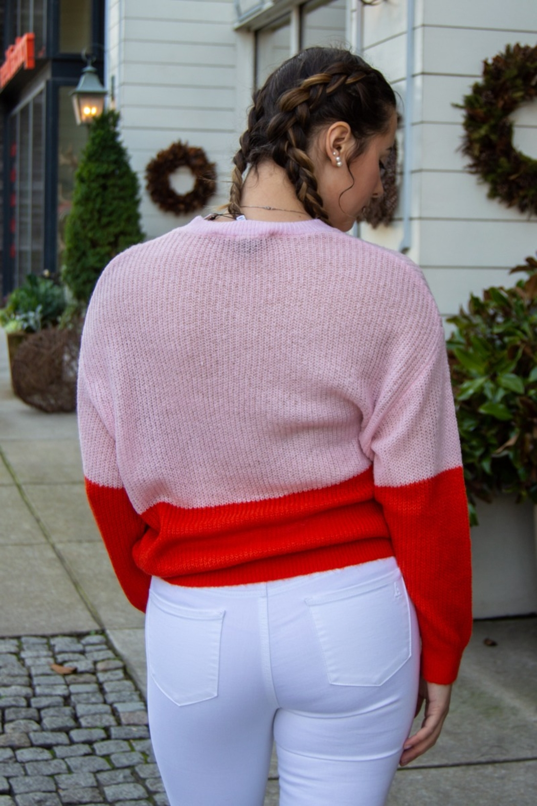 Cupcakes and Cashmere Janus Colorblock Sweater - Front Full Image