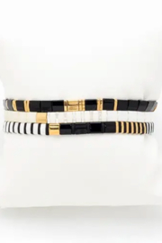 Rush by Denis & Charles Japanese Miyuki Tila Beads Stretch Bracelet Set - Product Mini Image