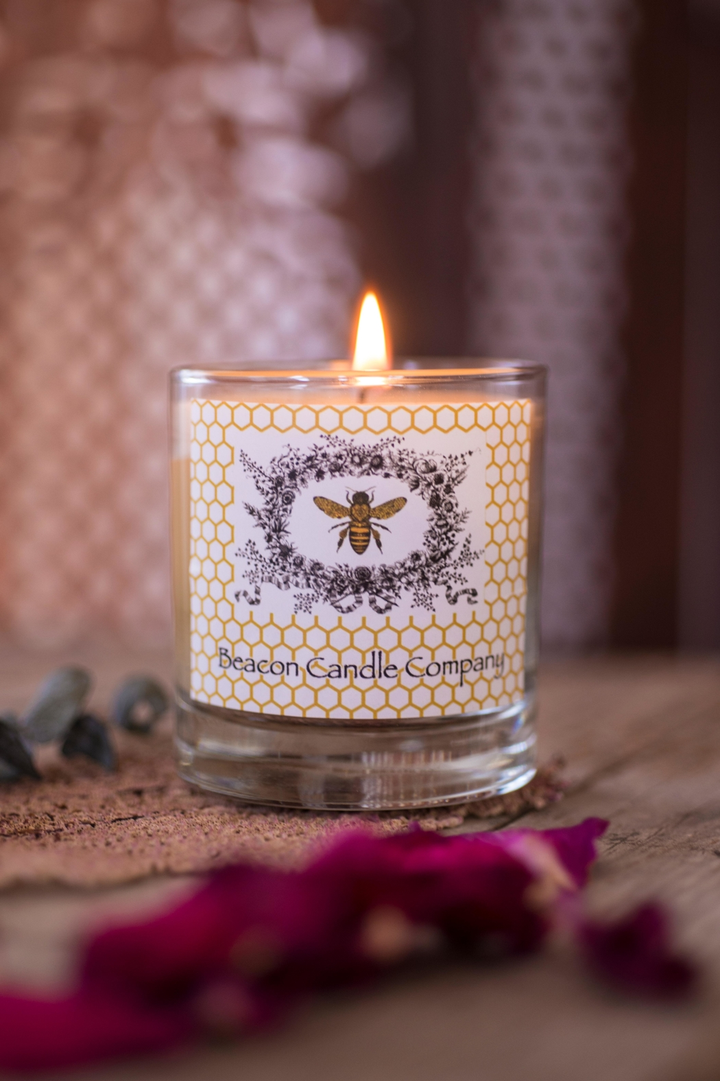 Beacon Candle Company Jar Beeswax Candle - Front Full Image