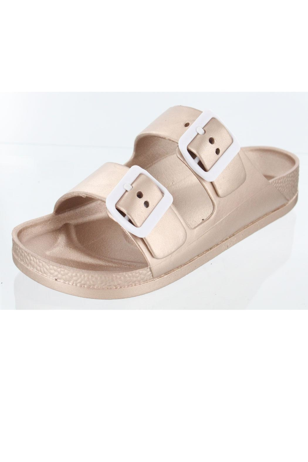 2b03383a53ac MIA Shoes Jasmin Slide Sandal from Wisconsin by ShoShoo — Shoptiques