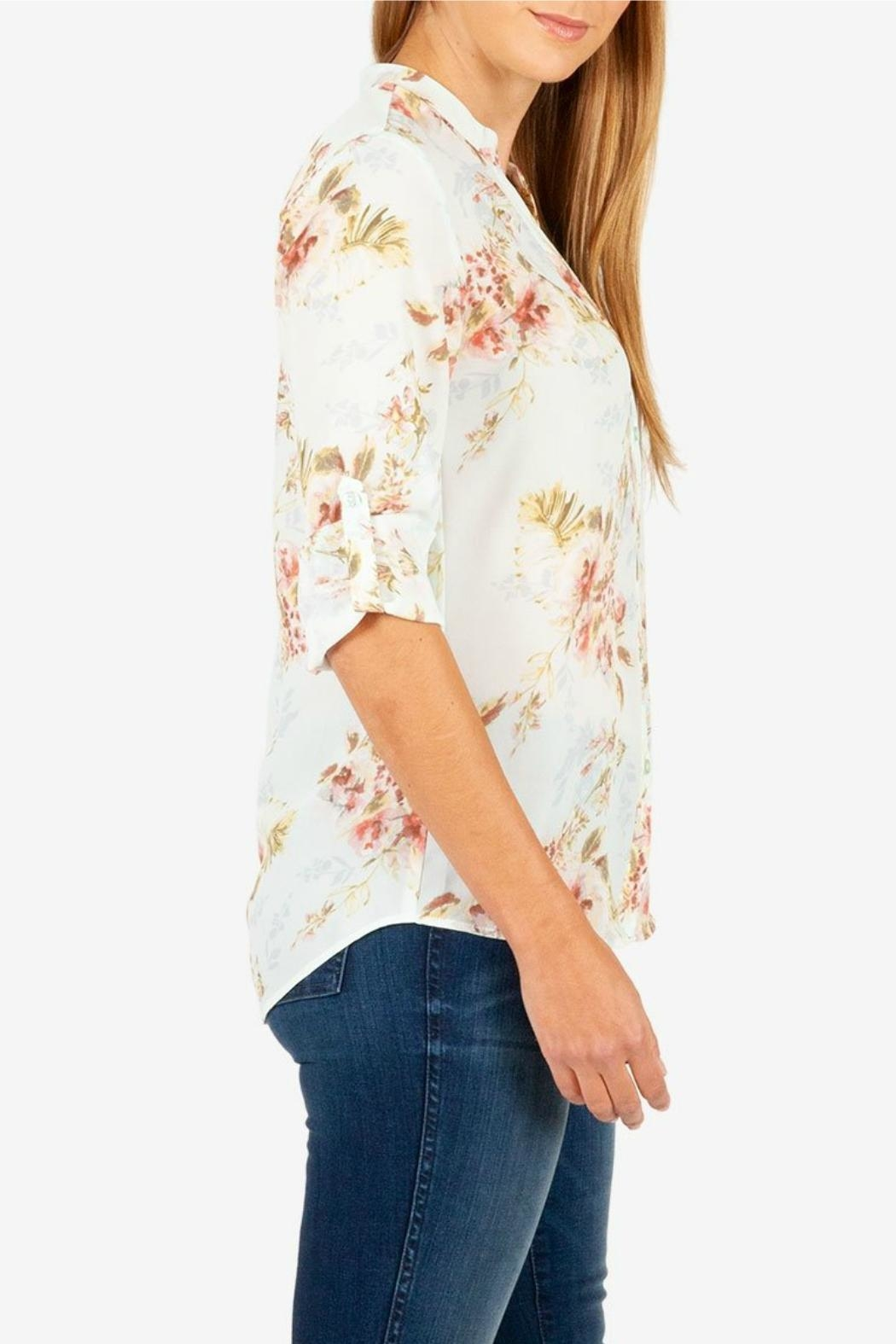 Kut from the Kloth Jasmine Crepe Blouse - Side Cropped Image