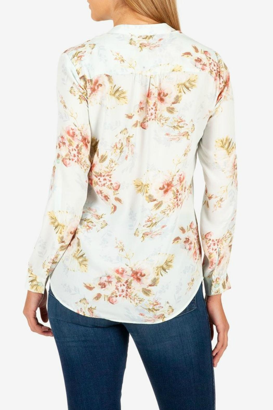 Kut from the Kloth Jasmine Crepe Blouse - Front Full Image