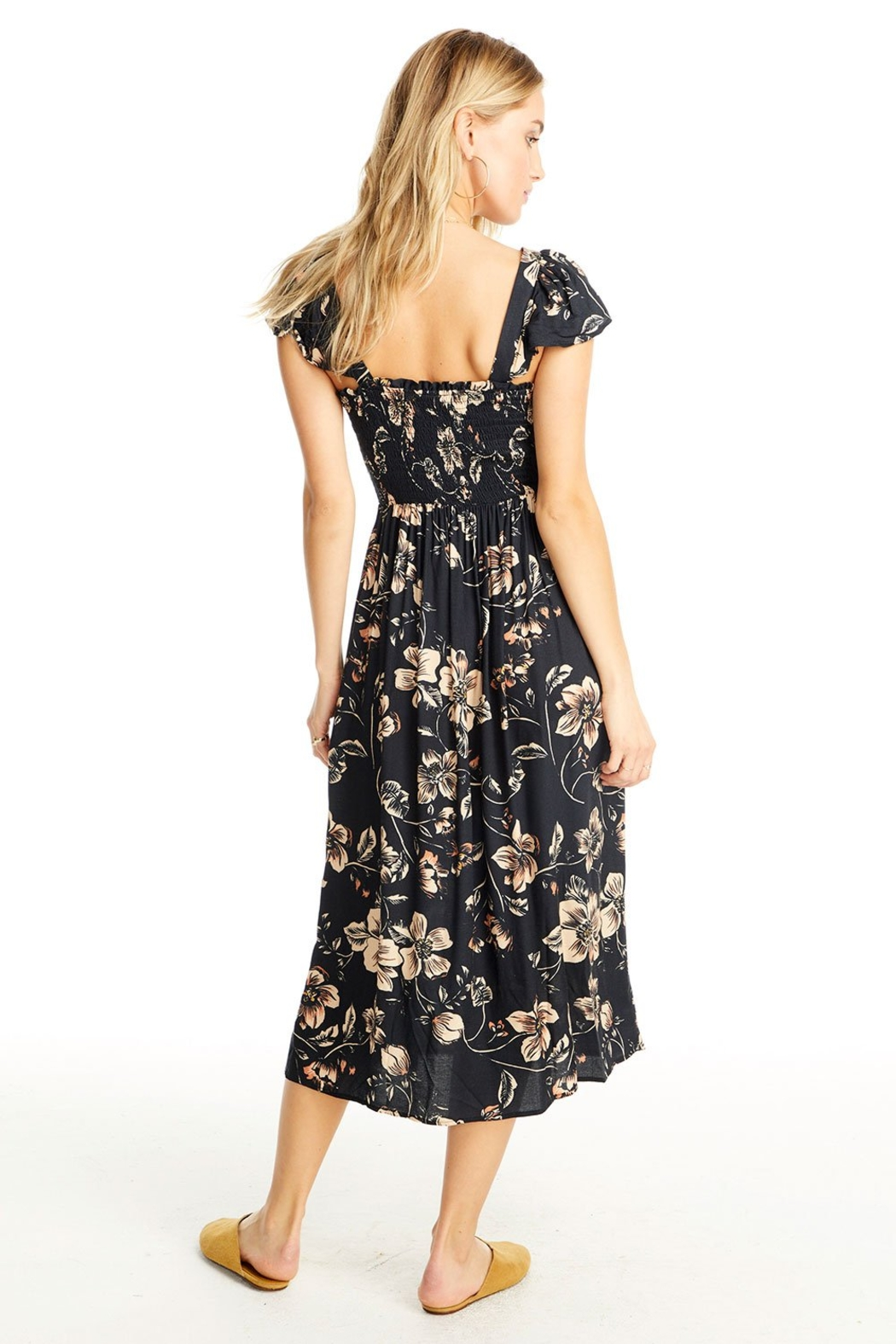 Saltwater Luxe Jasmine Floral Midi Dress - Side Cropped Image