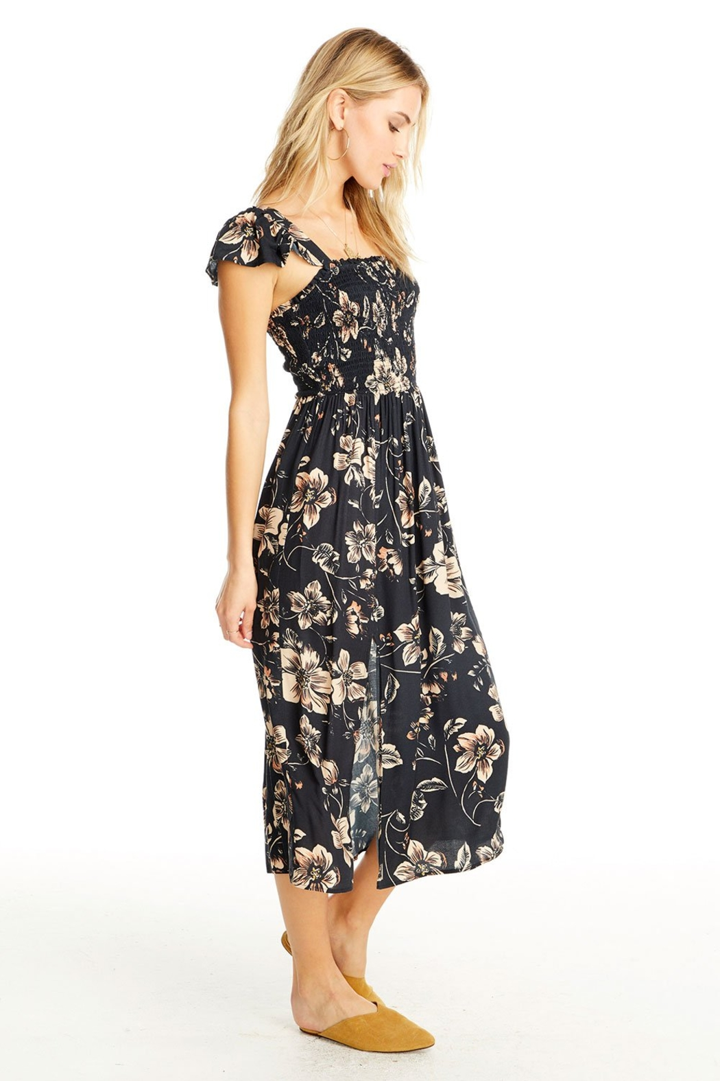 Saltwater Luxe Jasmine Floral Midi Dress - Front Full Image