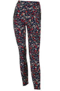CoCo and Carmen  Jasmine Pant Red Flower - Alternate List Image