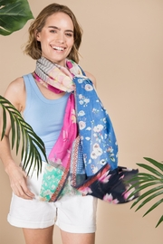 Saachi Jasmine Patchwork Floral Scarf - Front full body