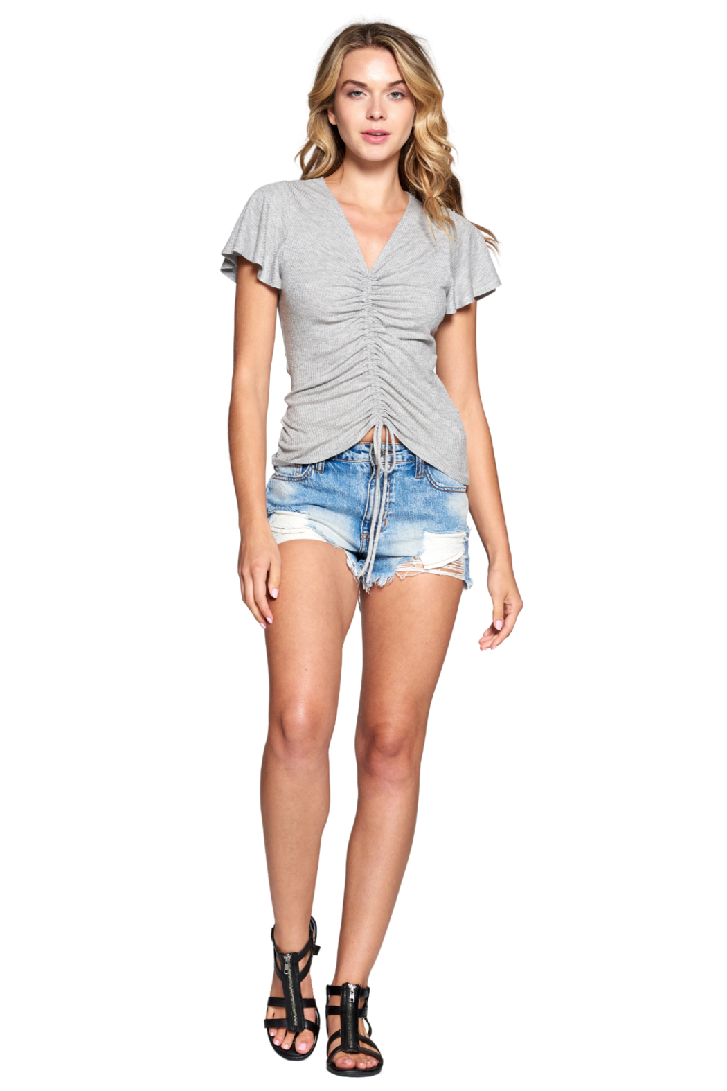 NYTT Jasmine Ruched Top - Front Full Image