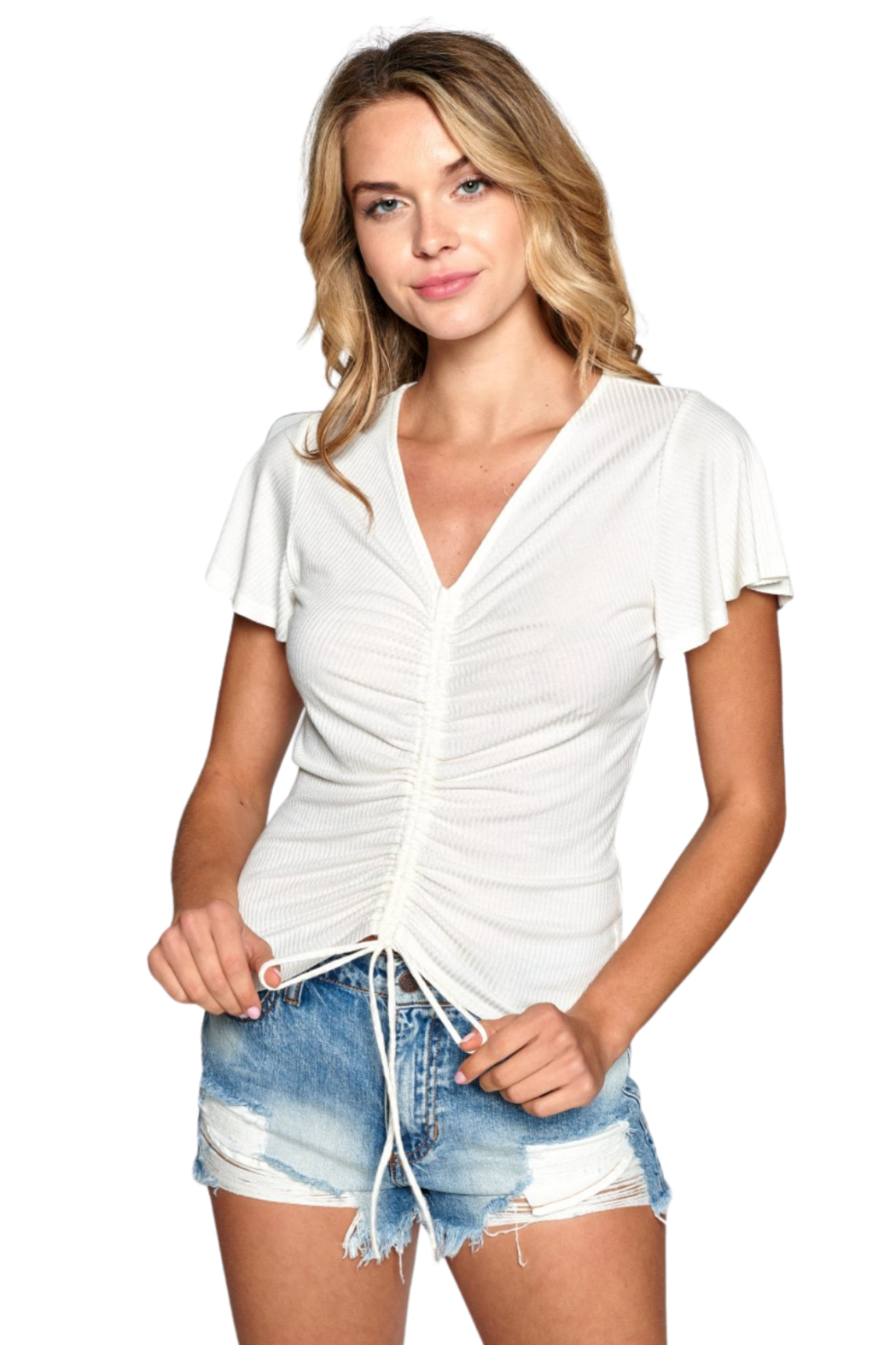 NYTT Jasmine Ruched Top - Front Cropped Image